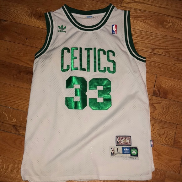 check out 7f6ba 2b9e3 Larry Bird Celtics Adidas Jersey